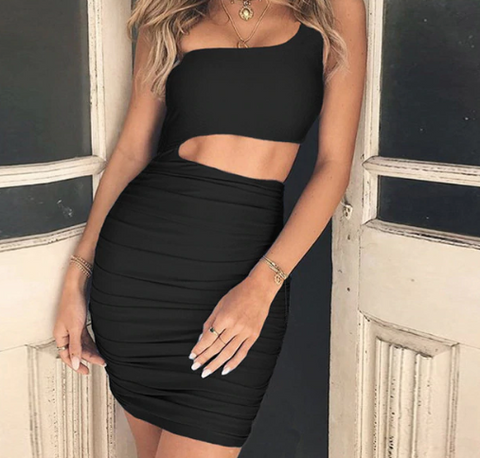 HAYLEY ONE SHOULDER DRESS