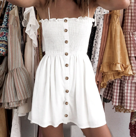 BUTTON UP BEACH DRESS