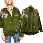 Amelia Embroidered Army Jacket