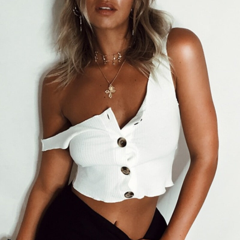 SASHA BUTTON UP CROP