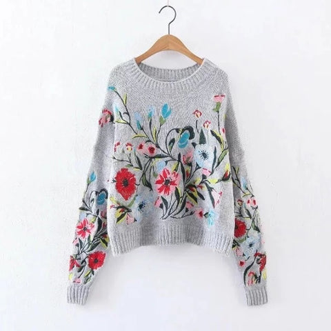 HOLLY FLORAL SWEATER