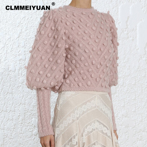 ROSE POM POM SWEATER