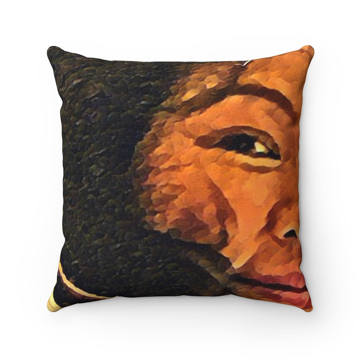Levi Thang Vintage Face Design G Spun Polyester Square Pillow Case