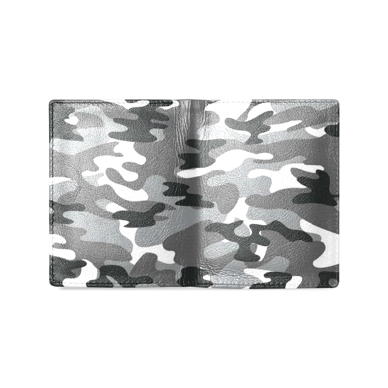 Camo Black White Dreamer Men's Leather Wallet - I Am A Dreamer