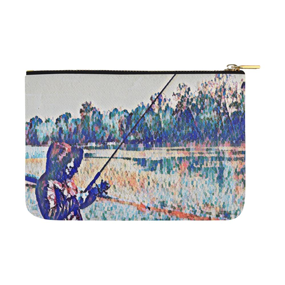 Levi Thang Fishing Design 1 Carry-All Pouch 12.5''x8.5'' - I Am A Dreamer