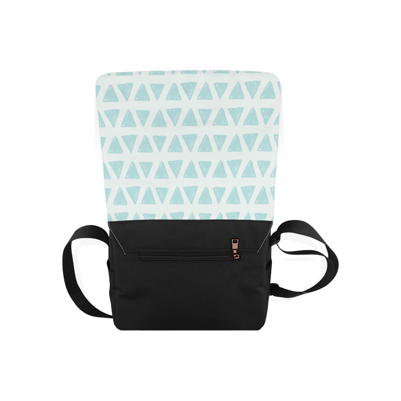 Green Triangle Fashion Messenger Bag