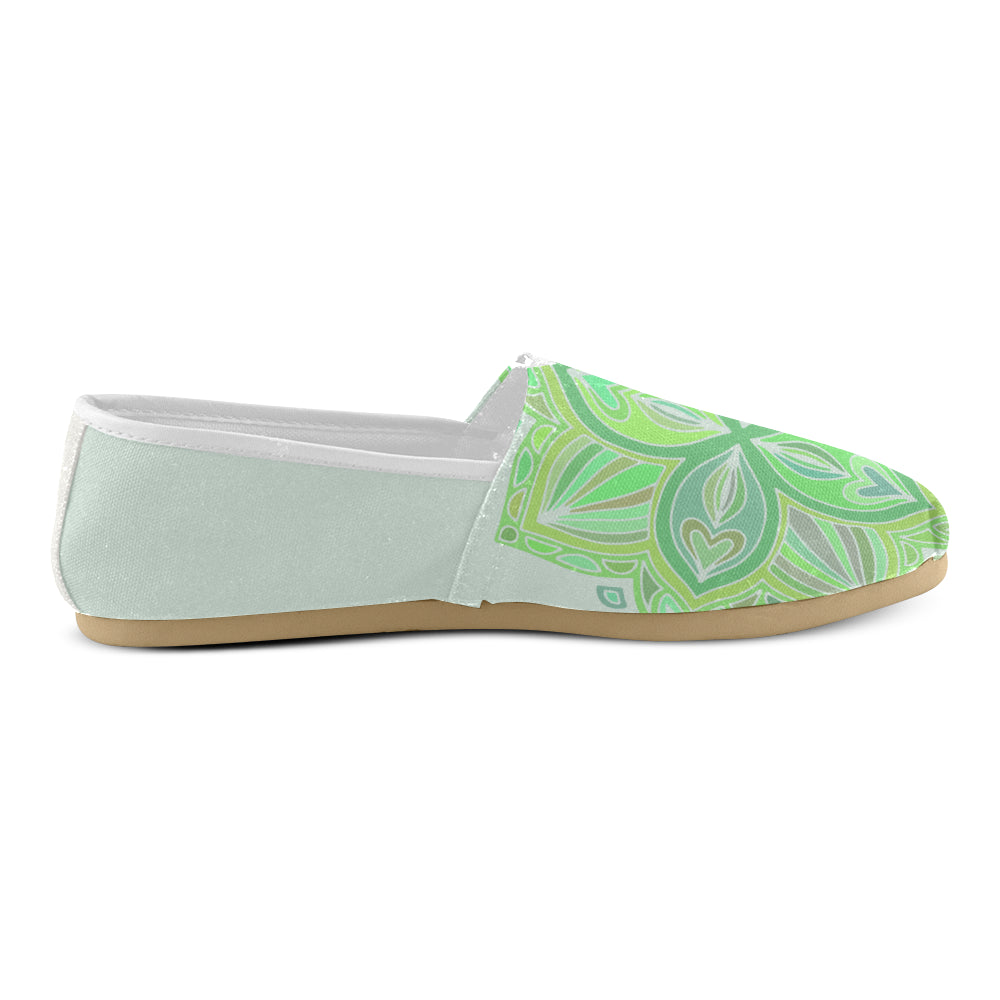Light Green Floral Green Women's Casual Shoes - I Am A Dreamer