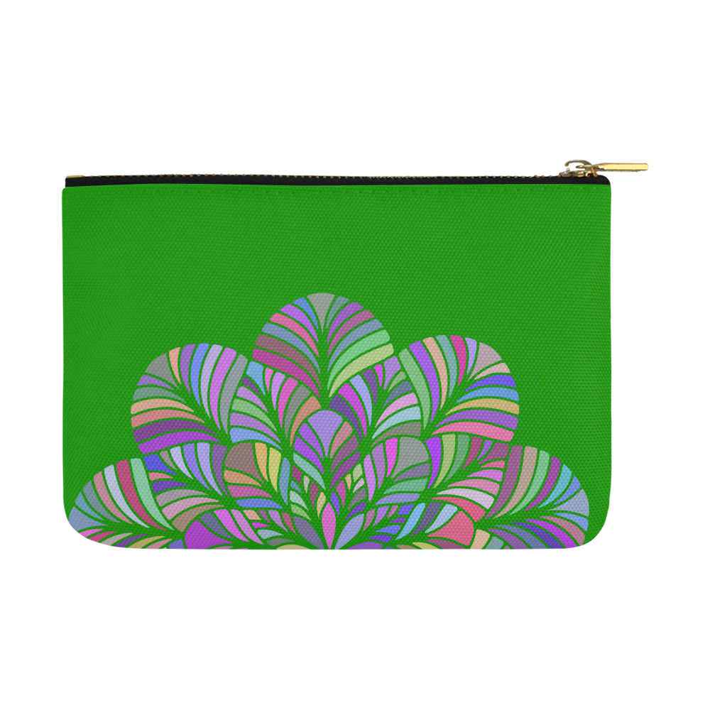 Dreamer Colors Mandala Green Canvas Carry-All Pouch 12.5''x 8.5'' - I Am A Dreamer