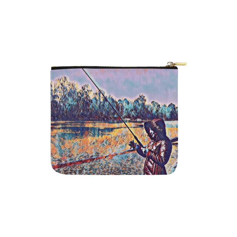 Levi Thang Fishing Design 10 Carry-All Pouch 6''x5'' - I Am A Dreamer