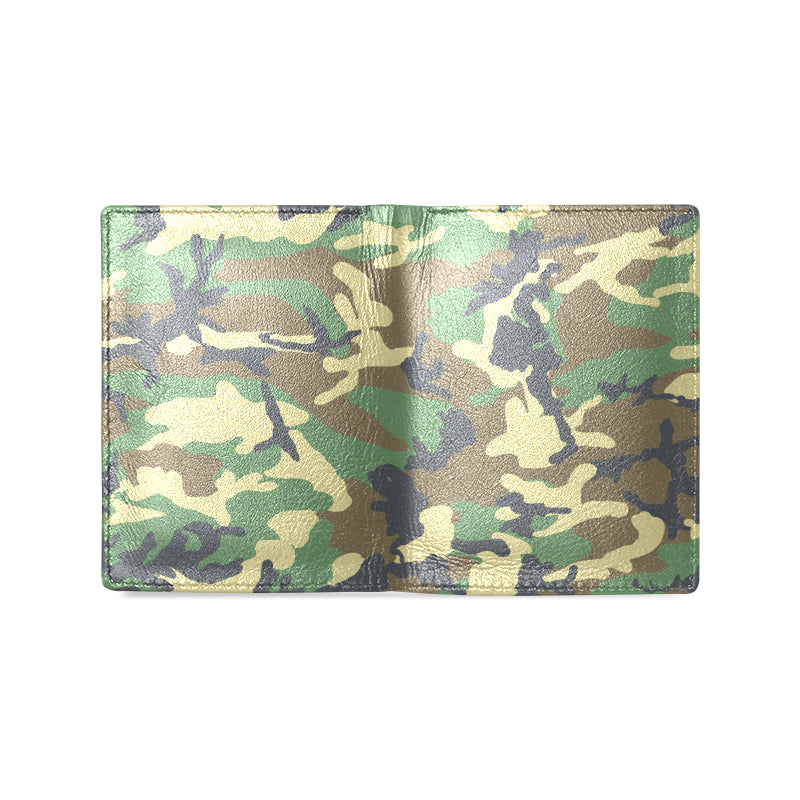Dreamer Camo Green Dark Gray Men's Leather Wallet