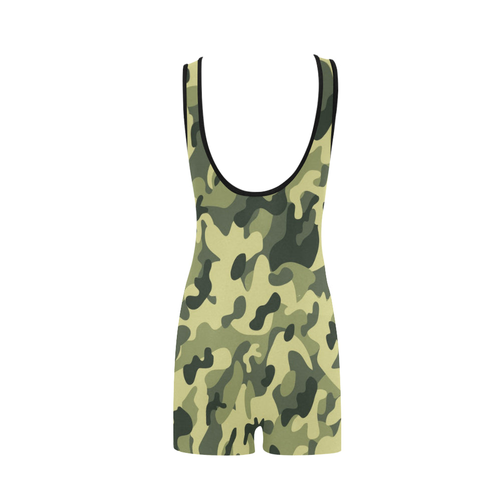 Camo Dark Green Classic One Piece Swimwear - I Am A Dreamer