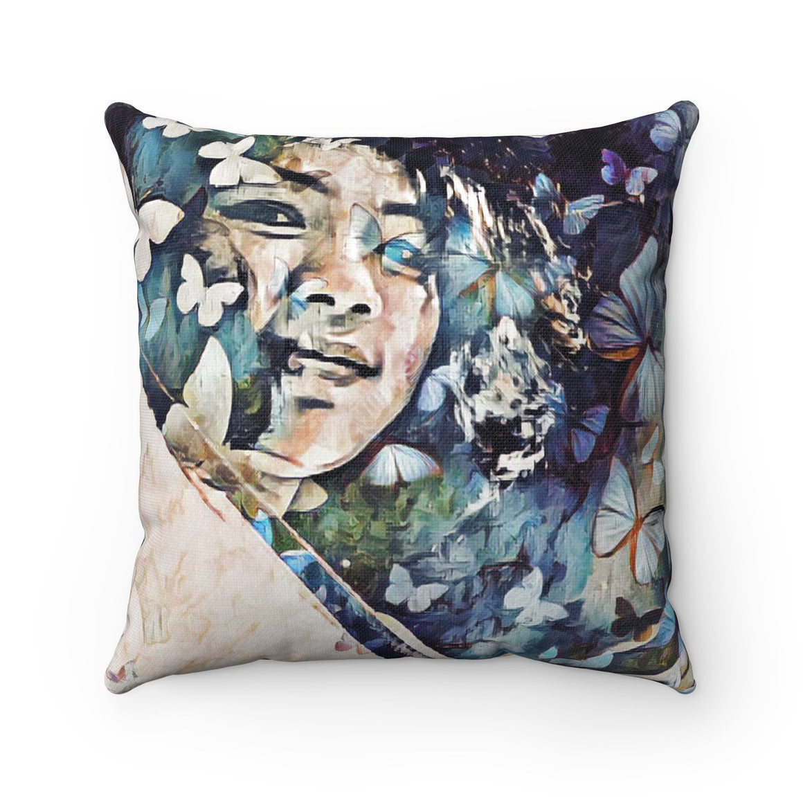 Levi Thang Vintage Face Design P Spun Polyester Square Pillow Case