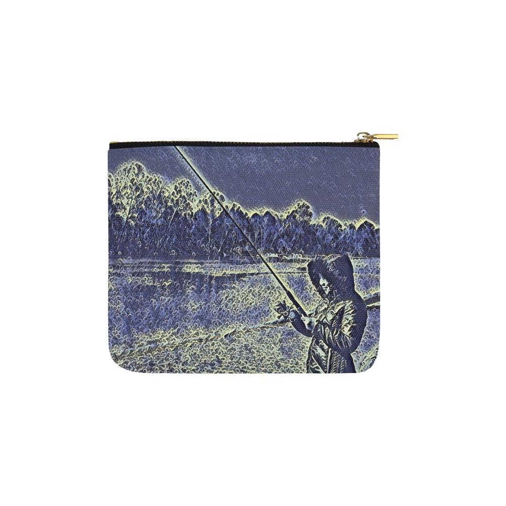 Levi Thang Fishing Design 12 Carry-All Pouch 6''x5'' - I Am A Dreamer