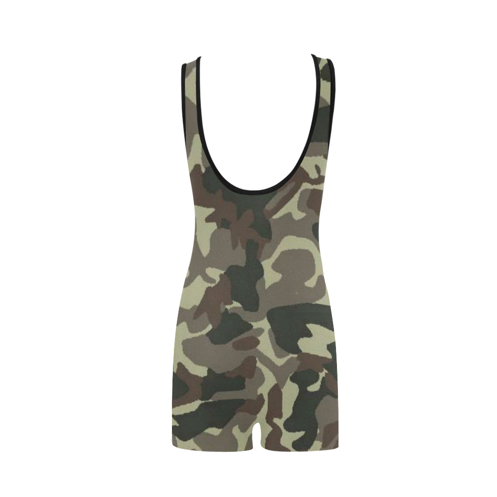 Camo Brown Classic One Piece Swimwear
