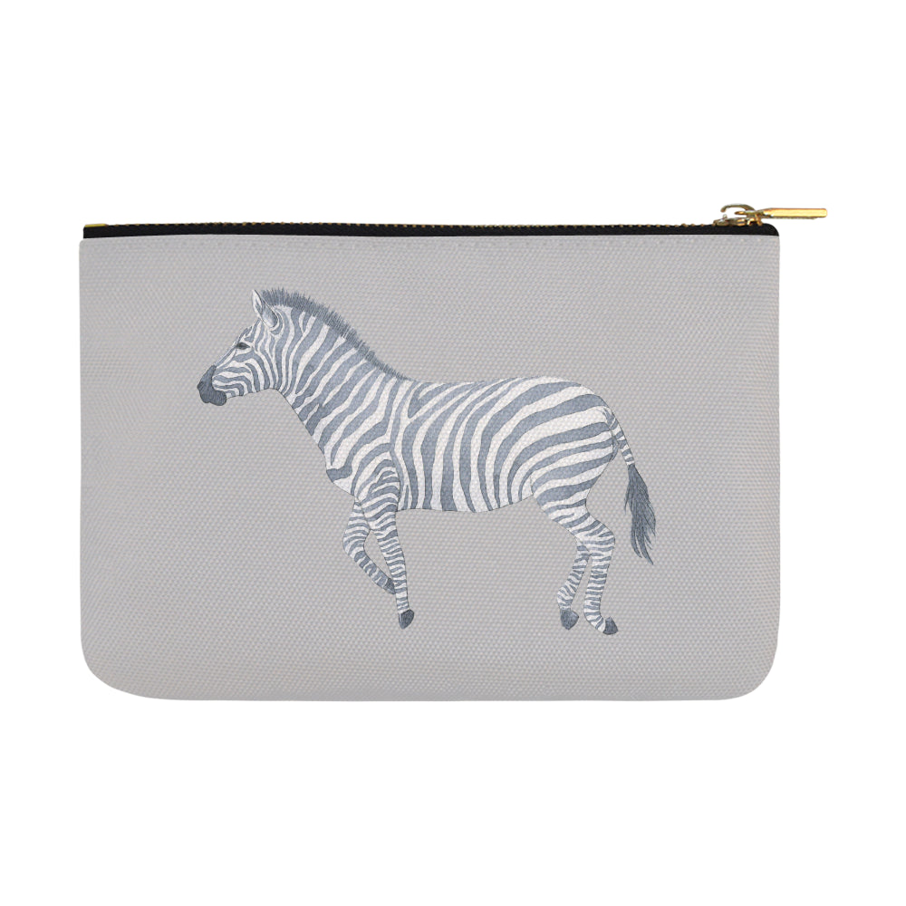 Zebra Gray Carry-All Pouch 12.5''X 8.5'' - I Am A Dreamer