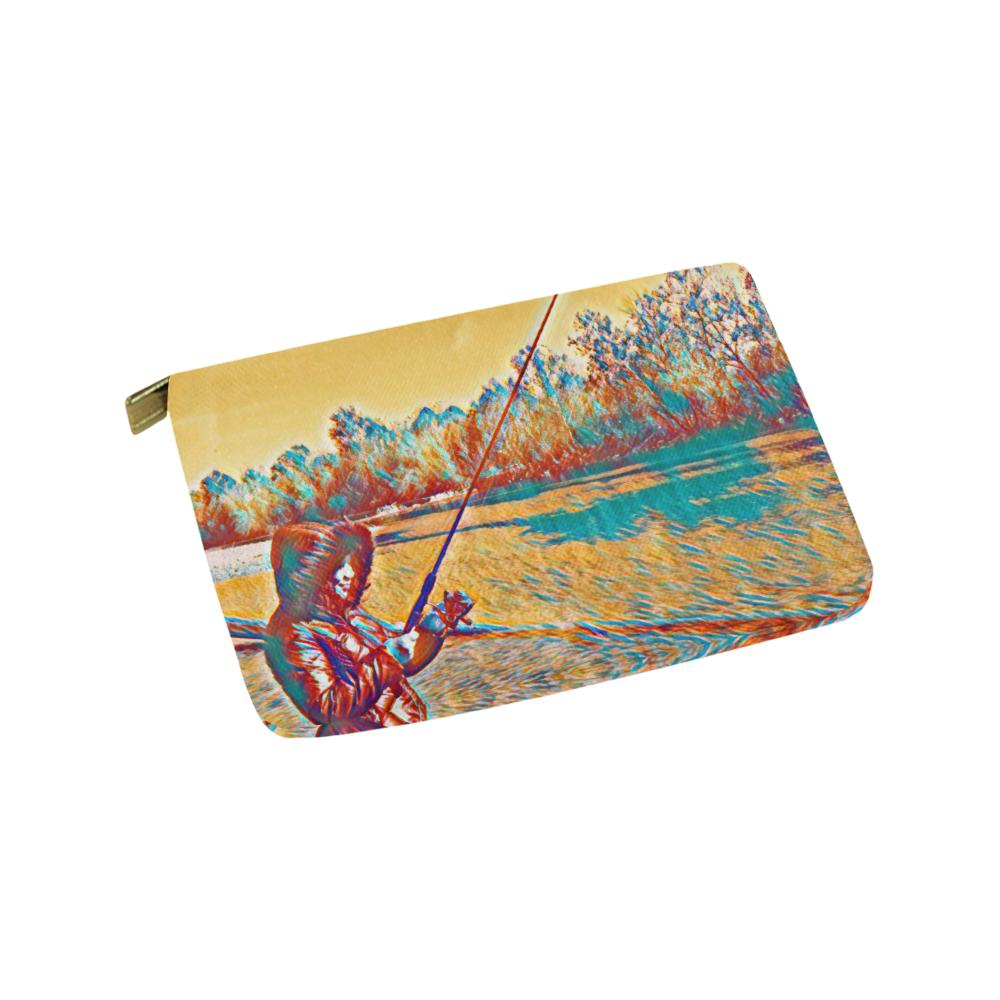 Levi Thang Fishing Design 4 Carry-All Pouch 9.5''x6'' - I Am A Dreamer