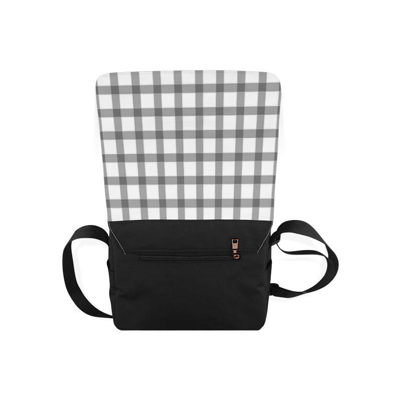 Mizo Black White Stripes Messenger Bag - I Am A Dreamer