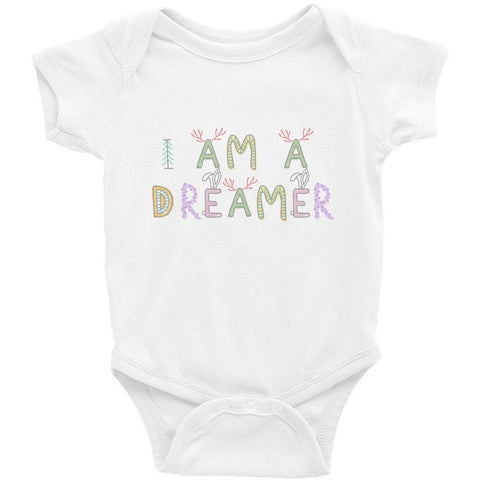 I Am A Dreamer Forest Infant Bodysuit - I Am A Dreamer