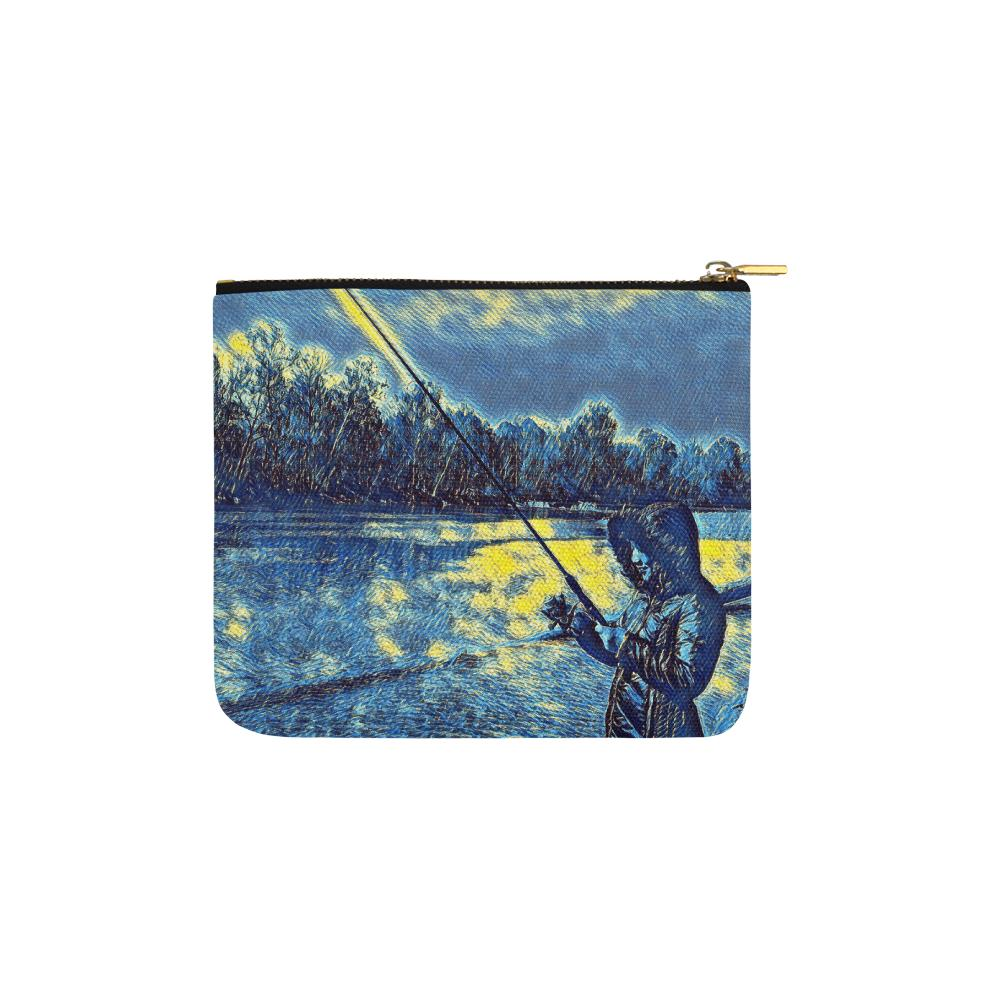 Levi Thang Fishing Design 7 Carry-All Pouch 6''x5'' - I Am A Dreamer