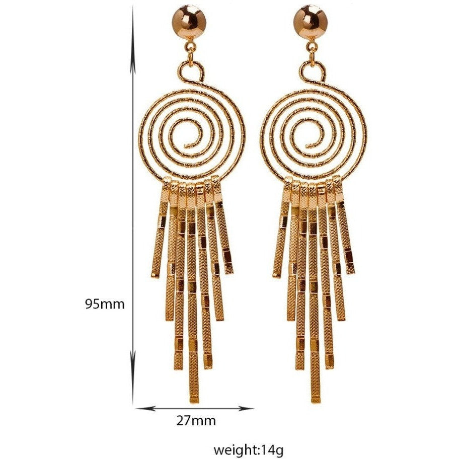 Top Quality Long 18K Real Gold Plated Drop Dangle Chandelier Earrings - I Am A Dreamer