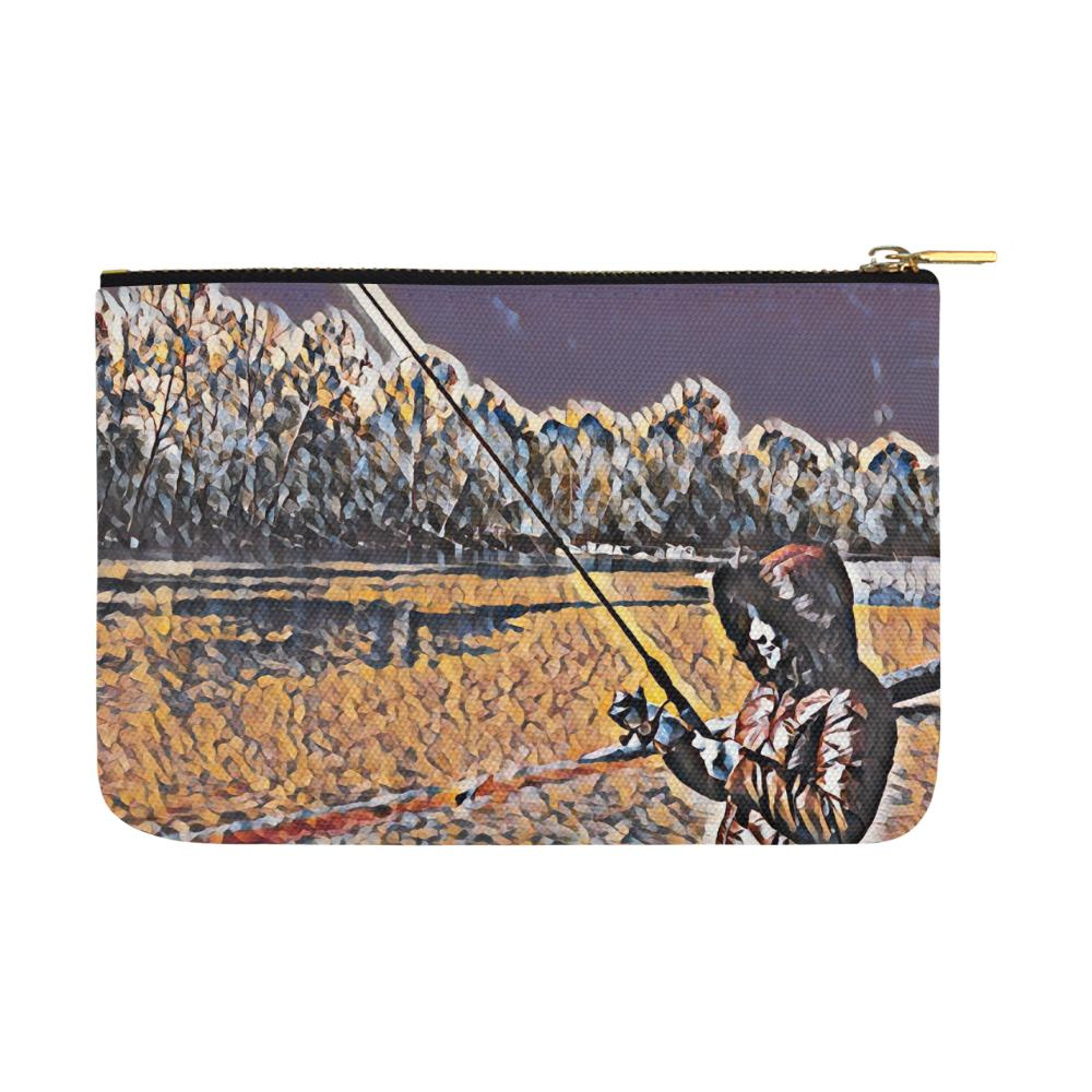 Levi Thang Fishing Design 3 Carry-All Pouch 12.5''x8.5'' - I Am A Dreamer