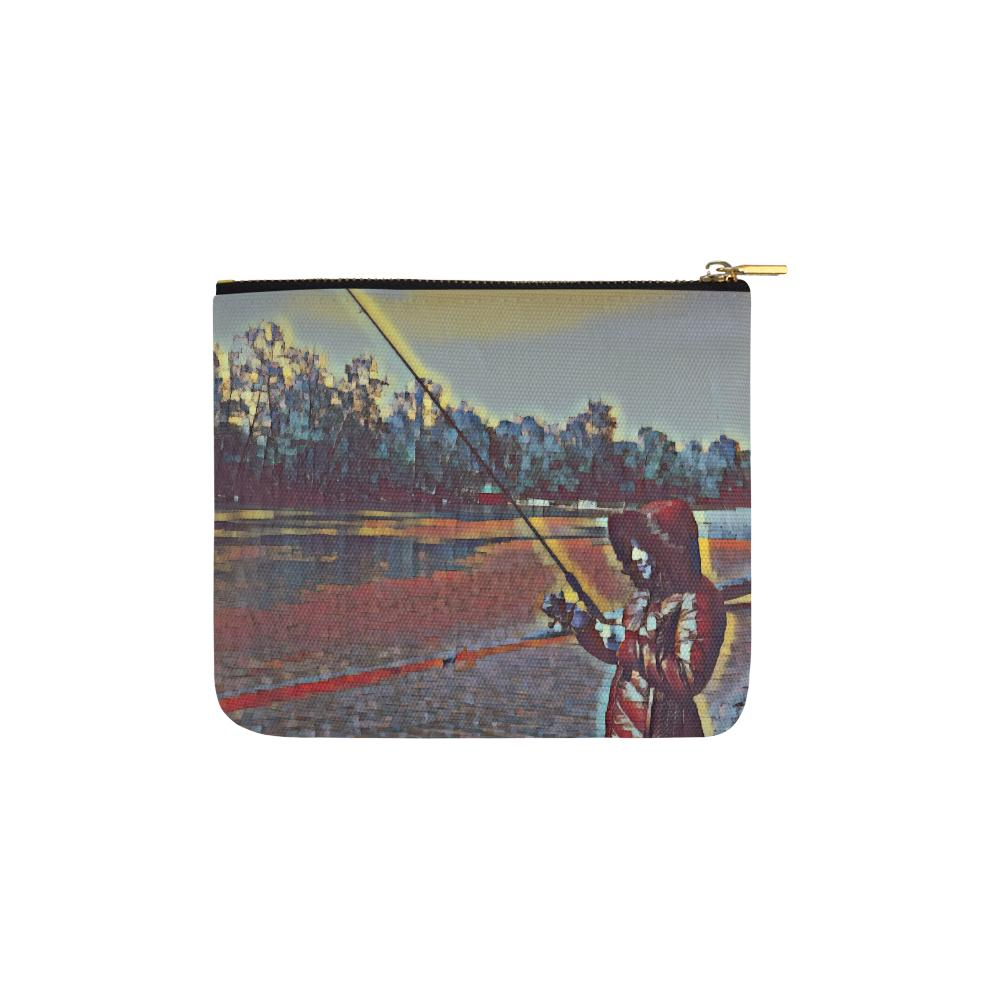 Levi Thang Fishing Design 13 Carry-All Pouch 6''x5'' - I Am A Dreamer