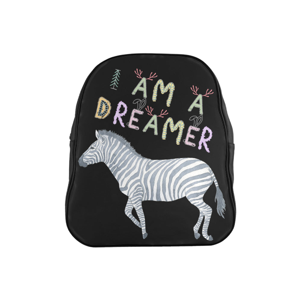 I Am A Dreamer Zebra Children School Backpack - I Am A Dreamer