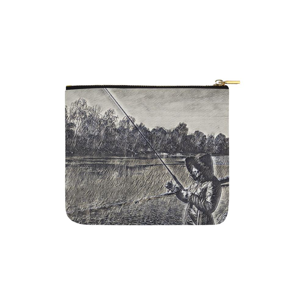 Levi Thang Fishing Design 14 Carry-All Pouch 6''x5'' - I Am A Dreamer
