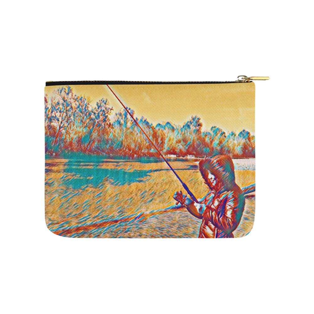 Levi Thang Fishing Design 4 Carry-All Pouch 8''x 6'' - I Am A Dreamer
