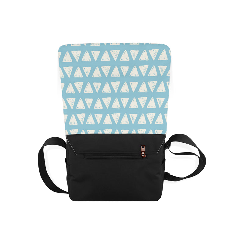Blue Triangle Fashion Messenger Bag