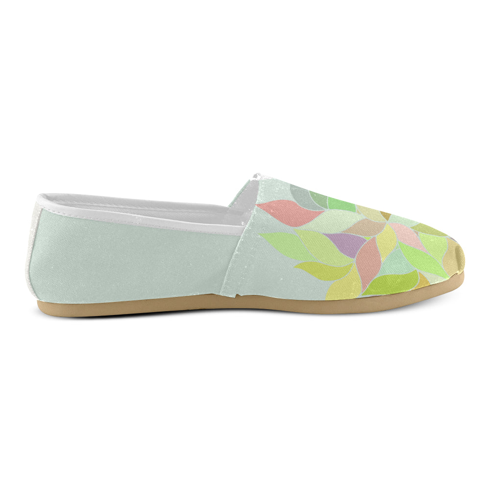 Light Green Floral Colors Women's Casual Shoes - I Am A Dreamer