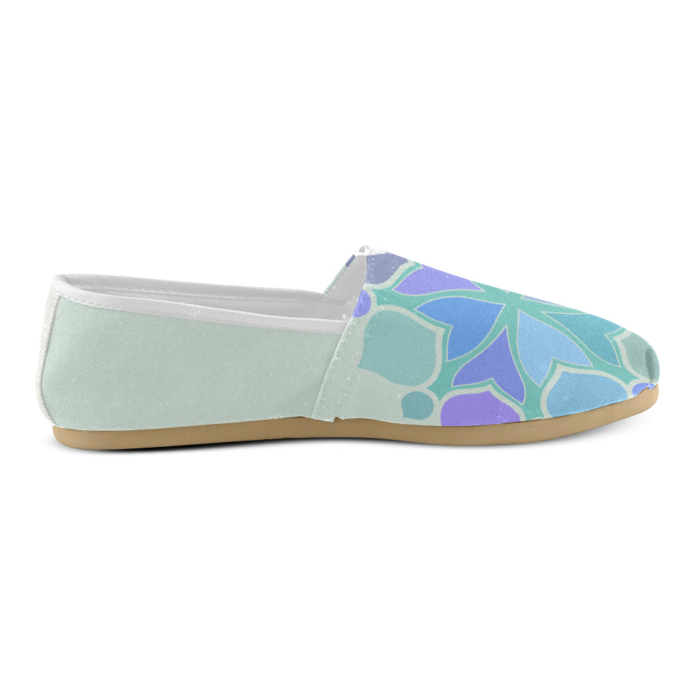 Light Green Floral Purple Women's Casual Shoes - I Am A Dreamer
