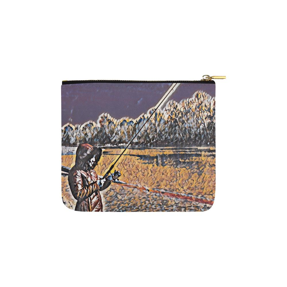 Levi Thang Fishing Design 3 Carry-All Pouch 6''x5'' - I Am A Dreamer
