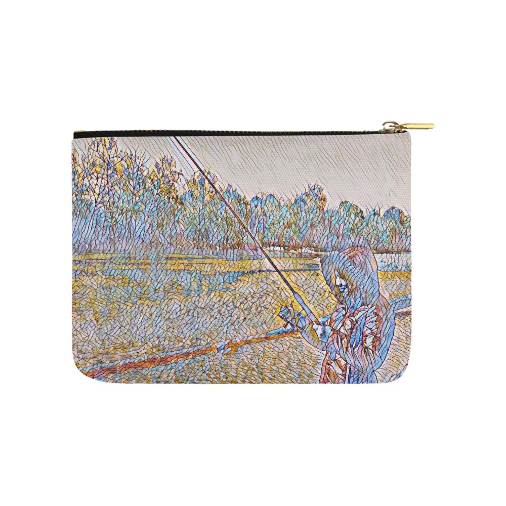 Levi Thang Fishing Design 2 Carry-All Pouch 8''x 6'' - I Am A Dreamer