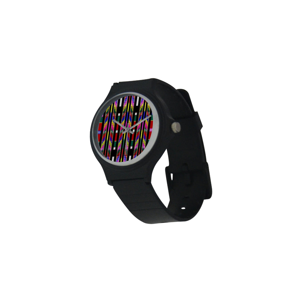 Mizo Fashion Designer Unisex Round Plastic Watch