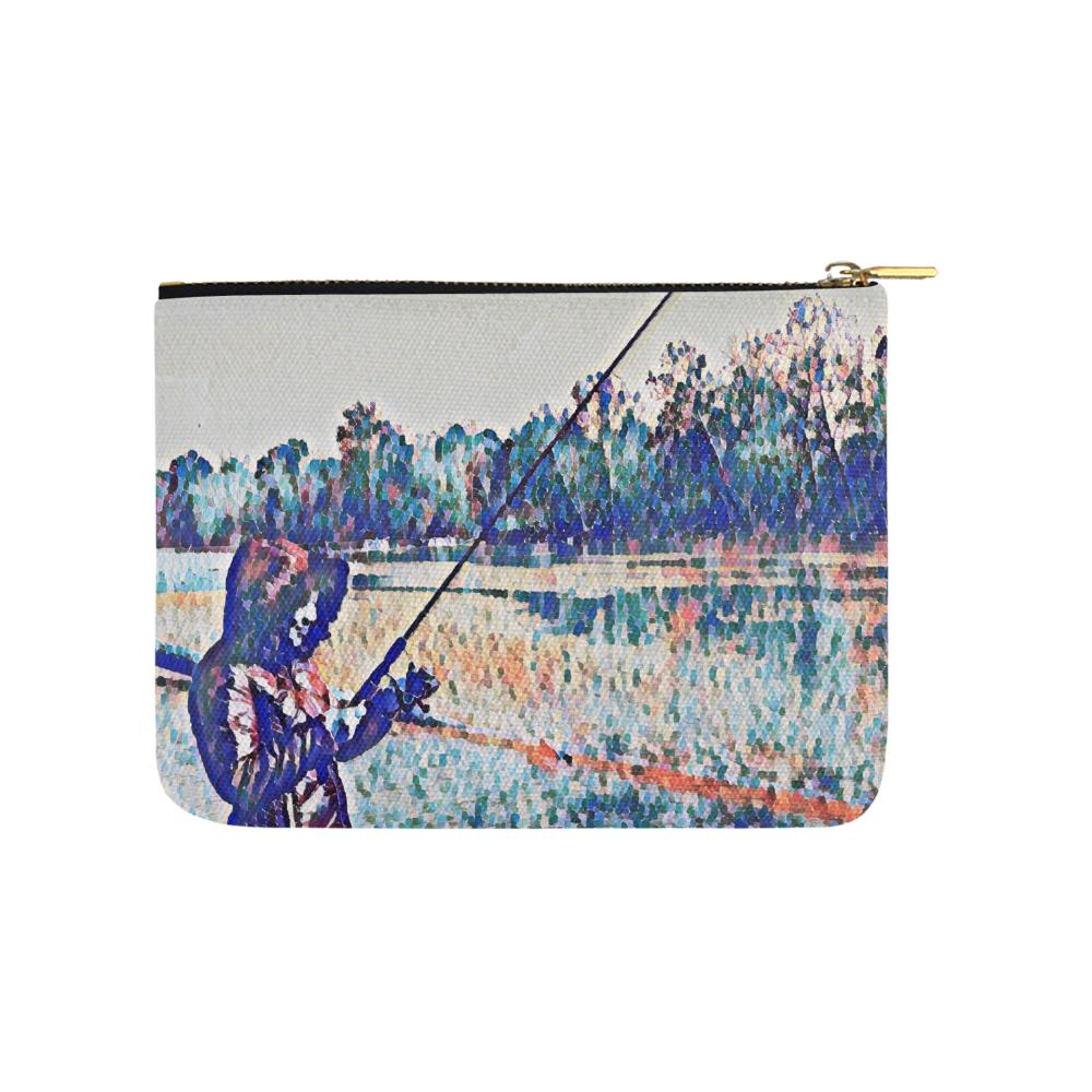 Levi Thang Fishing Design 1 Carry-All Pouch 8''x 6'' - I Am A Dreamer