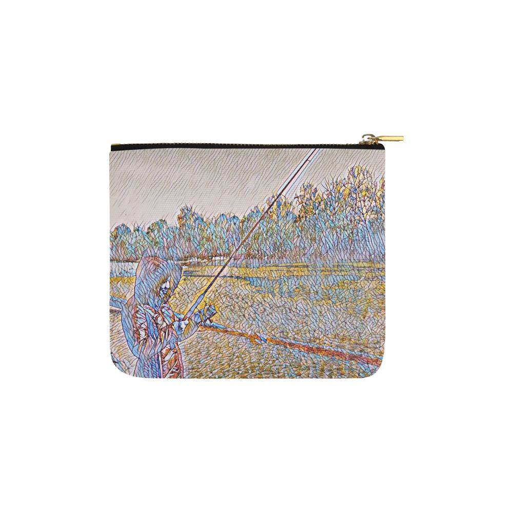 Levi Thang Fishing Design 2 Carry-All Pouch 6''x5'' - I Am A Dreamer