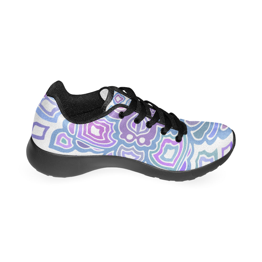 Mandala Cross Purple Black Women's Running Shoes - I Am A Dreamer