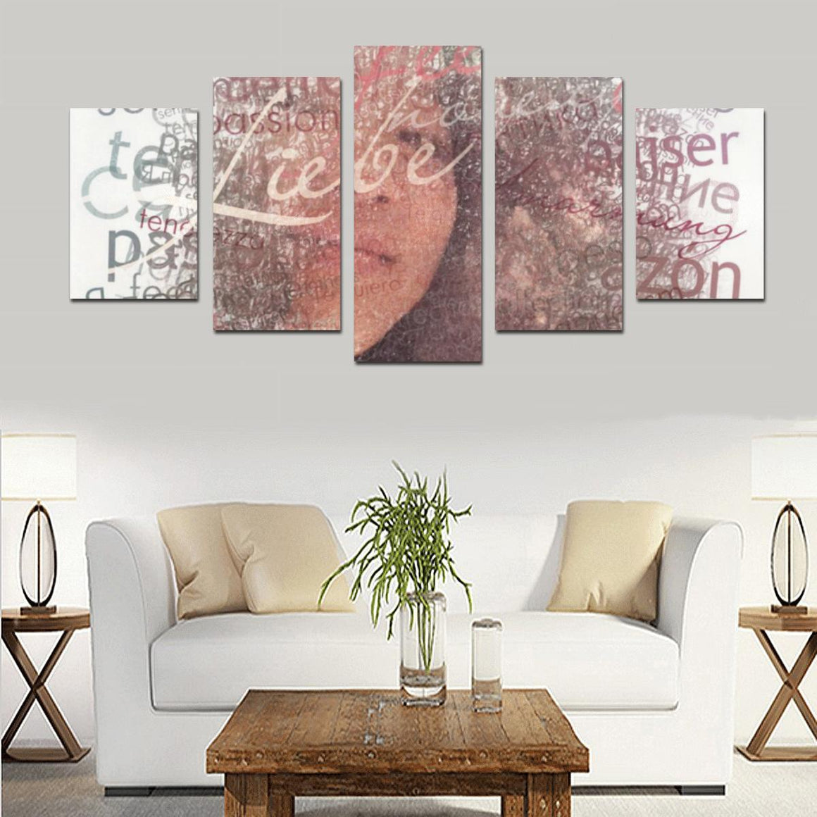 Levi Thang Face Vintage Letters Wall Art Canvas Print Sets D - I Am A Dreamer