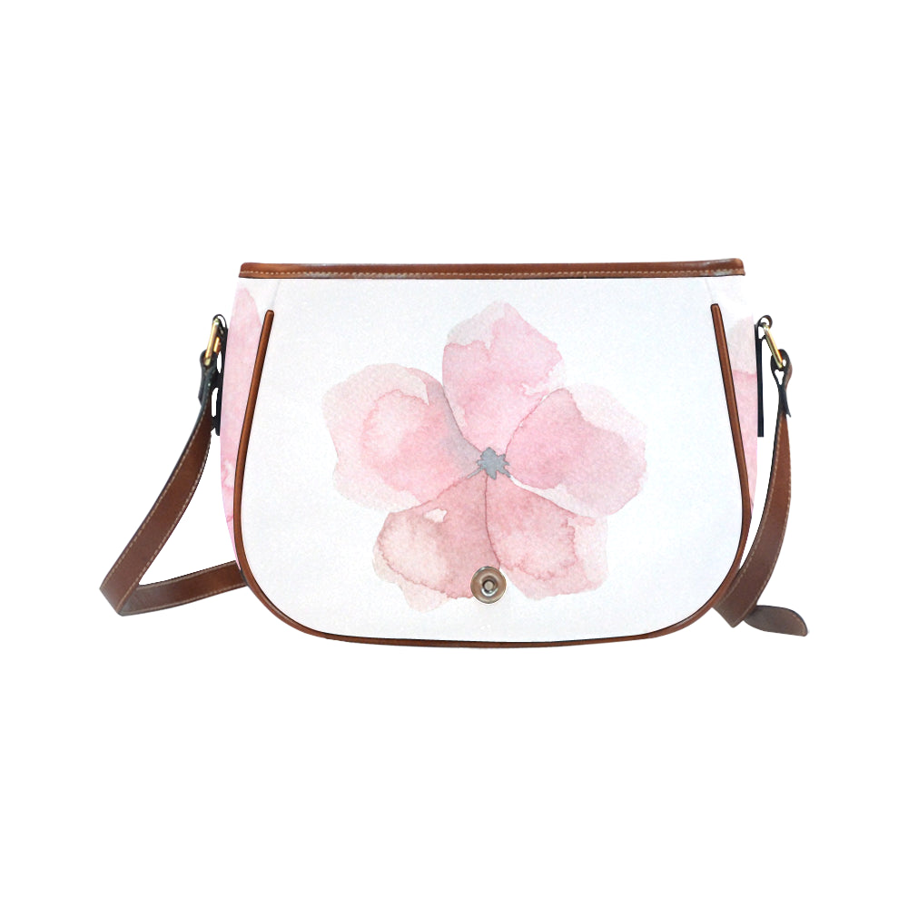 Pink Floral Saddle Bag/Large - I Am A Dreamer