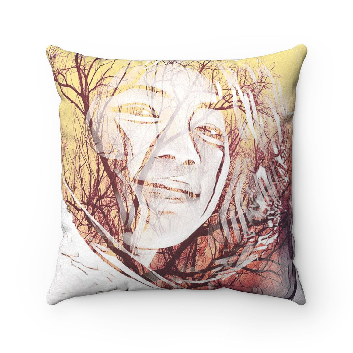 Levi Thang Vintage Face Design S Faux Suede Square Pillow Case