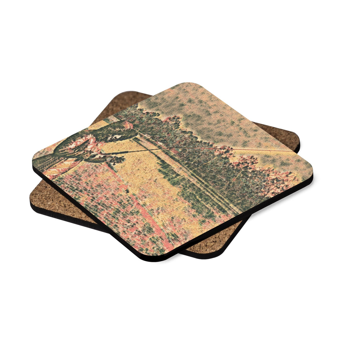 Levi Thang Fishing Design 36 Square Hardboard Coaster Set - 4pcs - I Am A Dreamer