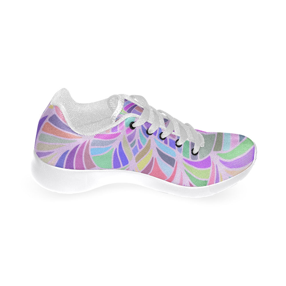 Mandala Purple White Women's Running Shoes - I Am A Dreamer