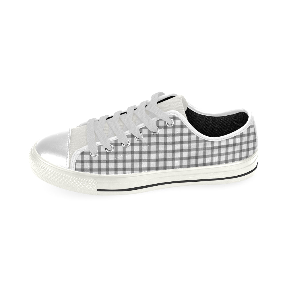 Mizo Pattern White Base, Inside Black Men's Classic Canvas Shoes - I Am A Dreamer