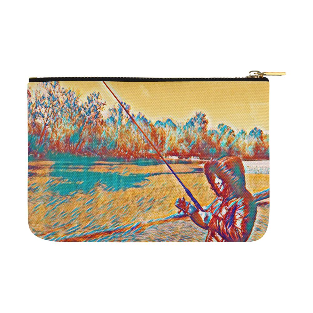 Levi Thang Fishing Design 4 Carry-All Pouch 12.5''x8.5'' - I Am A Dreamer