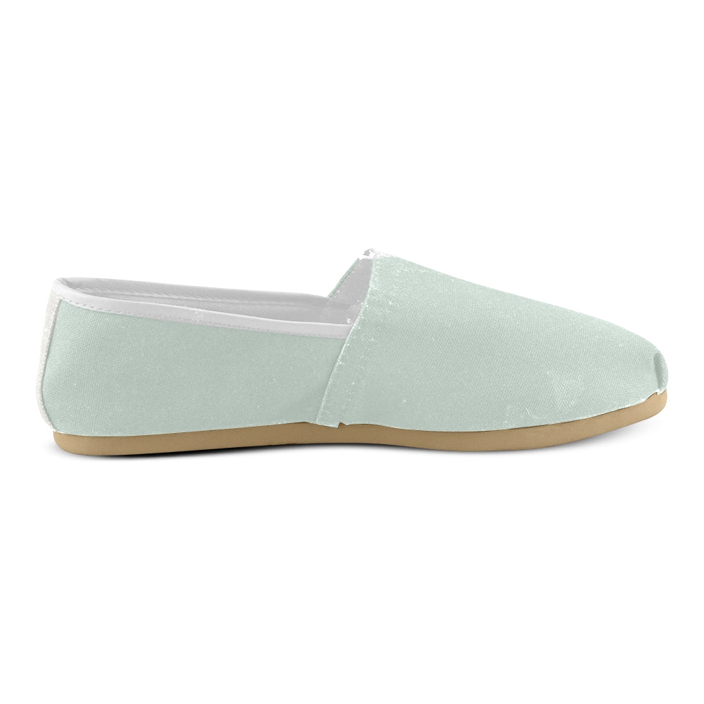 Simple Light Green Women's Casual Shoes - I Am A Dreamer