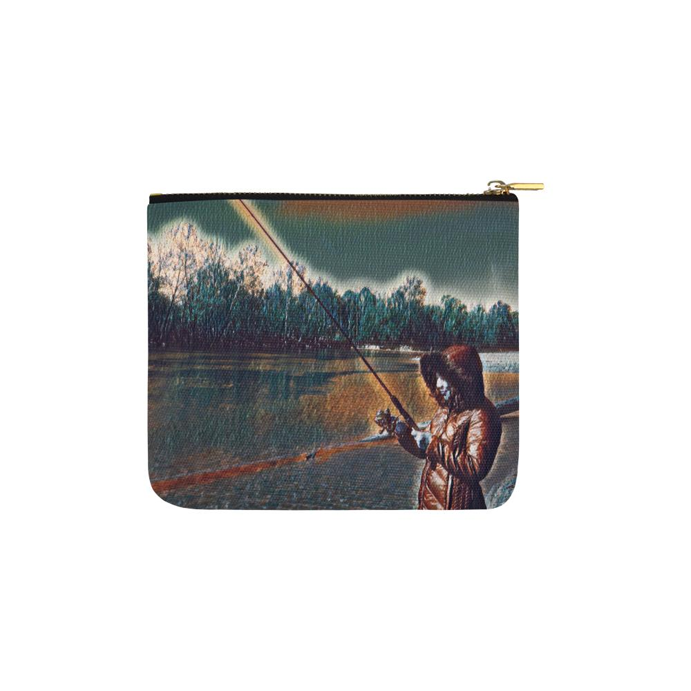 Levi Thang Fishing Design 6 Carry-All Pouch 6''x5'' - I Am A Dreamer