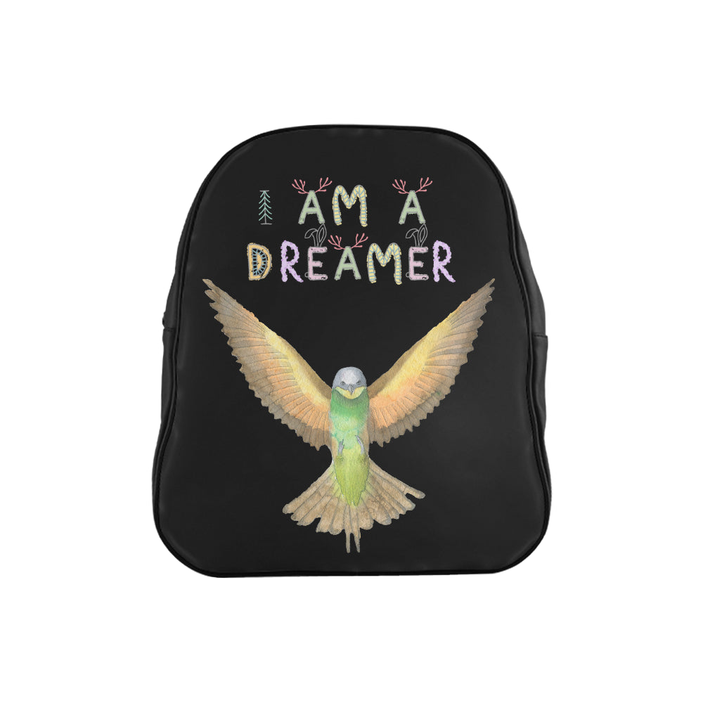 I Am A Dreamer Flying Bird Children School Backpack