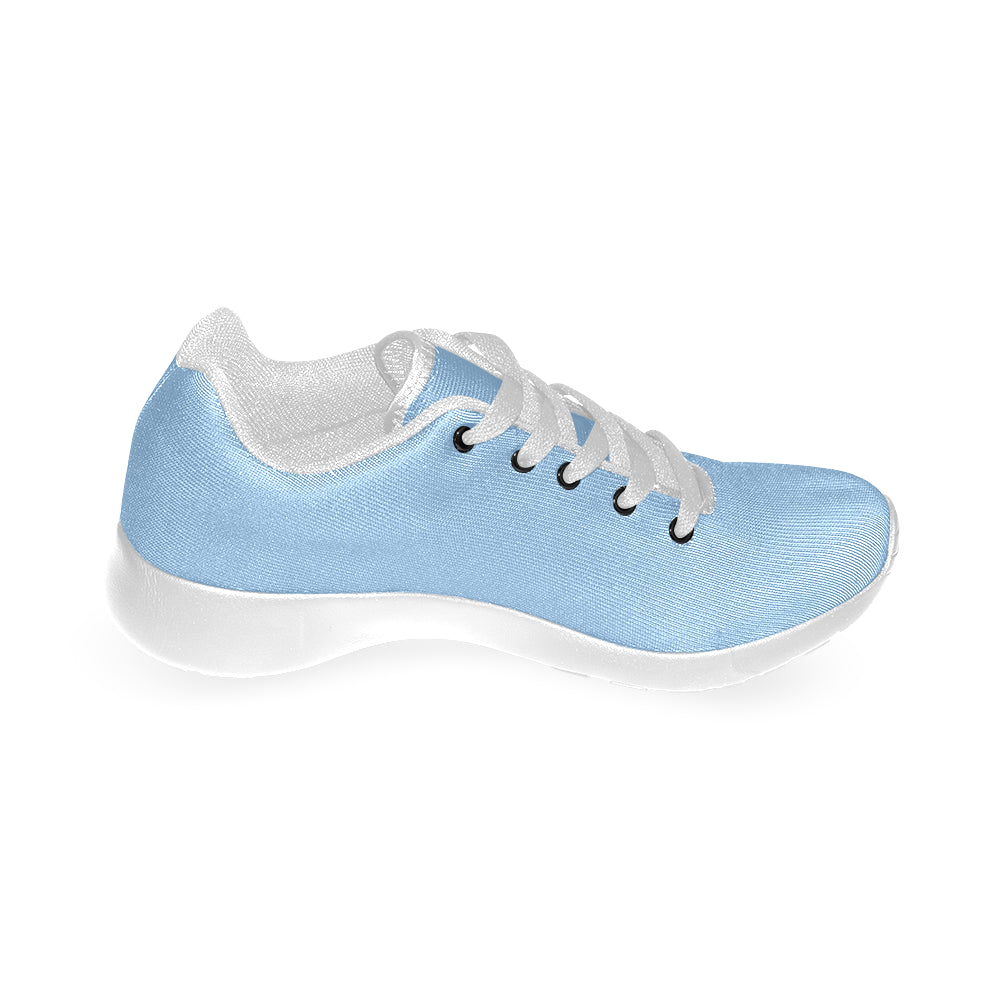Blue Canvas White Fashion Women's Running Shoes