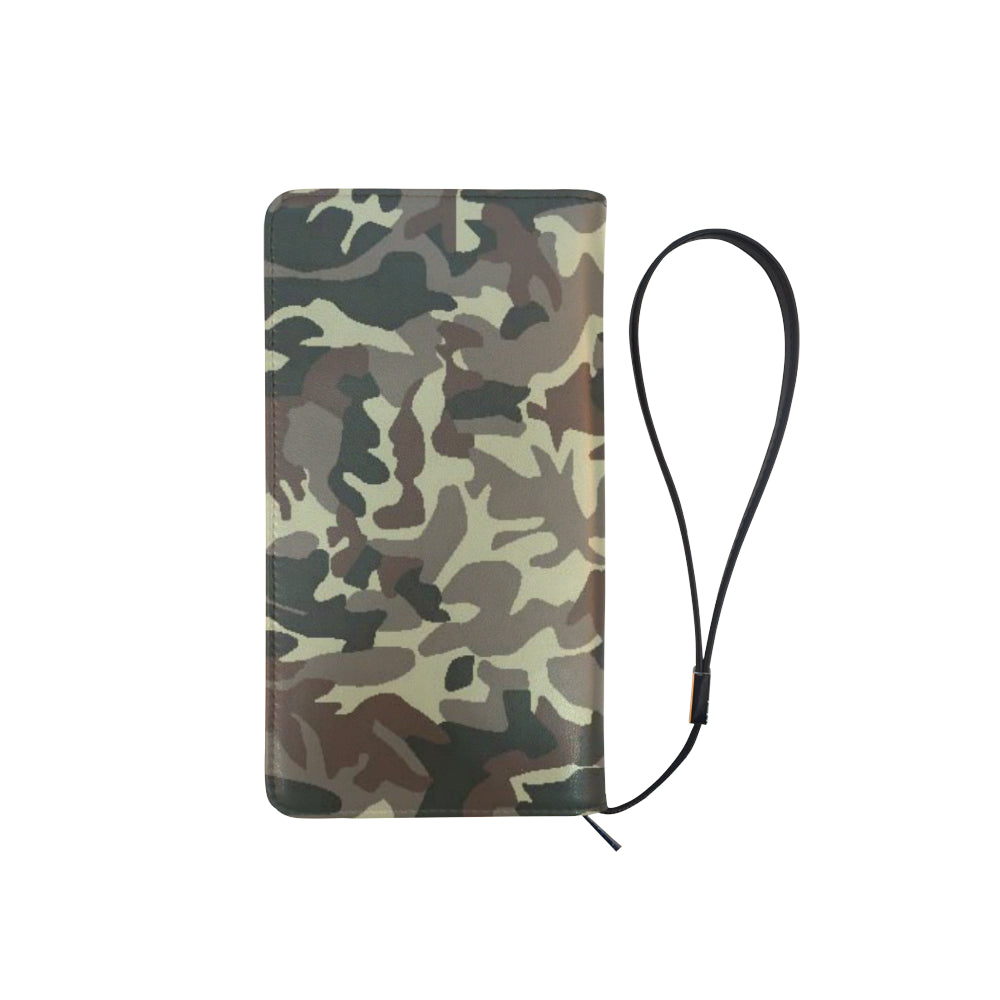 Camo Brown Men's Clutch Purse